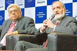 Next step: (from left) Deepak Parekh and Kiran Karnik. Parekh says independent directors need to be provided regulatory protection. Bharath Sai / Mint