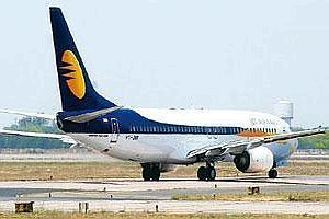Little respite: A Jet Airways aircraft. Jet's revenue, excluding leasing income, declined 15.77% to Rs2,263.37 crore in the March quarter. Ramesh Pathania / Mint