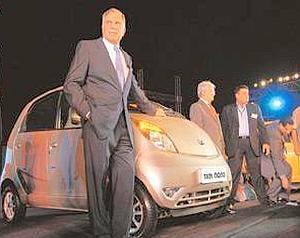 Highlighting efficiency: Ratan Tata at the Nano car launch. In a letter to the CEOs of group companies, he asked for belt-tightening across firms. Abhijit Bhatlekar / Mint