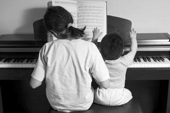 Tuned in: Music lessons can be tough on the parent.