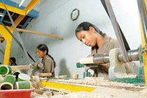 Conservation push: Toy factory workers in Channapatna, Karnataka. India exports wood handicraft items worth about Rs1,000 crore a year. Hemant Mishra / Mint
