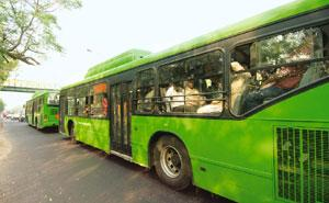 Green fleet: Low-floor CNG buses run by Delhi Transport Corporation. Ramesh Pathania / Mint