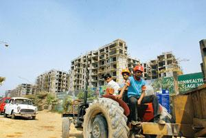 Labour point: The construction site of the Commonwealth Games Village in New Delhi. Rajkumar / Mint