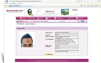 Bull's eye? Screenshot of Sanjay Nair's forehead marked for ad space.