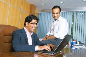 Focus on expertise: Growx Ventures' managing director and CEO Ashish Taneja (in the chair) with MD Sheetal Bahl. Taneja and Bahl started the consultancy firm to offer what they call 'management capita