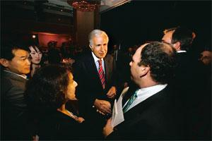 Activist investor: A 10 June 2008 photo of Carl Icahn, billionaire investor and chairman of Icahn Enterprises, greeting guests after speaking at the New York Financial Writers Association dinner in Ne