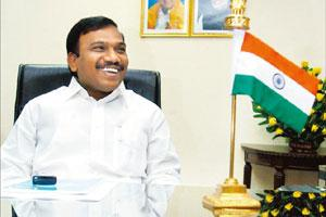 In talks: Union minister for communications and IT A. Raja. Arvind Yadav / Hindustan Times