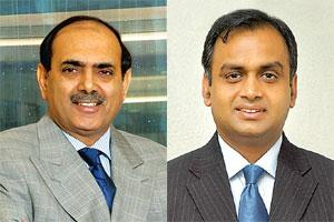 Restructuring in progress: IndusInd CEO and MD Romesh Sobti (left) and Dhanalakshmi Bank CEO and MD Amitabh Chaturvedi.