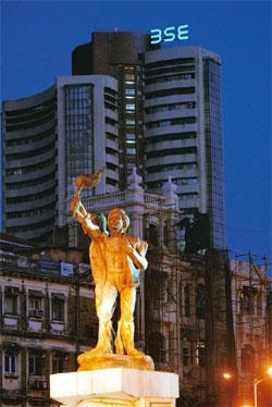 Rapid surge: The BSE building in Mumbai. The Sensex has gained 90% from its 2009 low in March. Ashesh Shah / Mint