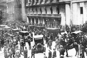 The fall: The New York Exchange on 24 October 1929, also known as 'Black Thursday'. AFP