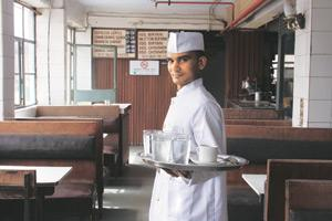 A waiter at the Indian Coffee House. Mayank Austen Soofi
