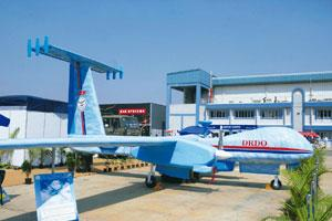 Greater efficiency: Rustom, the unmanned aerial vehicle being built by the Defence Research and Development Organisation, uses components sourced from commercial suppliers in the flight control system