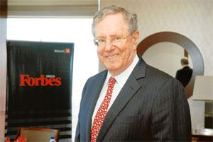 Dwindling riches: Steve Forbes (in picture) and Tim Forbes conceded that the last year had been a difficult one for the magazine. Ashesh Shah / Mint