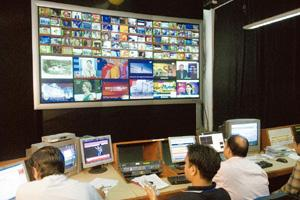 On track: A Dish TV monitoring room in Noida. The operator is eyeing the digital TV audience mapping space, according to a senior communications industry executive familiar with the development. Rames
