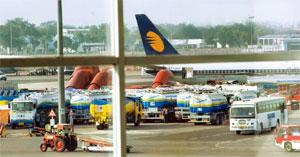 Expensive fares: A Jet Airways aircraft at New Delhi airport. The airline says a fare hike had become necessary. Ramesh Pathania / Mint