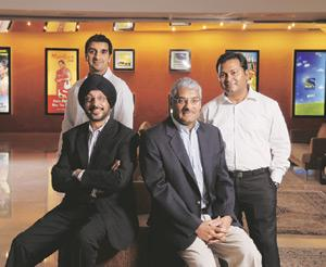 The cast: (from left) The Sony team of Gurdip Bhangoo, programming head, Manjit Singh, COO, N.P. Singh, acting CEO, and Danish Khan, marketing head