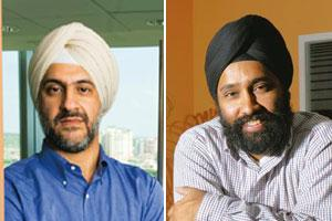 Spectacular returns: (from left) Helion Venture partner Kanwaljit Singh (Madhu Kapparath / Mint) and Draper Fisher Jurvetson India executive director Mohanjit Jolly (Hemant Mishra / Mint)