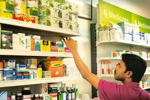 Health check: A medical store. Vitamin products are not required to comply with quality standards mandated by drug laws. Hemant Mishra / Mint
