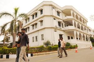 66 acres: IIIT-H campus is home to many inter-disciplinary research efforts. Bharath Sai / Mint