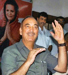 Rural priorities: Union health minister Ghulam Nabi Azad. PTI