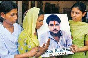 Plea for help: A file photo of family members of Sarabjit Singh appealing to the Indian government seeking his release. PTI