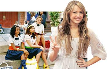 Teen queens: Gossip Girl is targeted at 15-year-olds while (right) Hannah Montana is a favourite with eight-year-olds. Michaela Rehle / Reuters