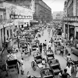 City hub: Kolkata's famous New Market area in 1976 drew enterprising youth by the droves. AFP