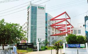 Tapping opportunities: A Fortis hospital in Noida. The healthcare firm had a network of 27 hospitals by the end of March. Ramesh Pathania / Mint