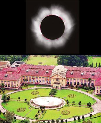 Out of the world: (top) The glowing ring of a total eclipse; the 93-year-old Patna high court building. Luc Viatour