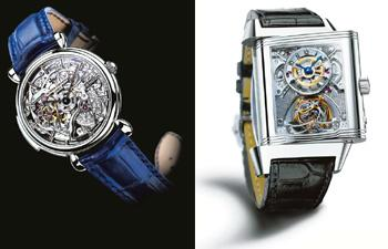 Mean machines: (left) A piece by Vacheron Constantin; and Reverso Gyrotourbillon.