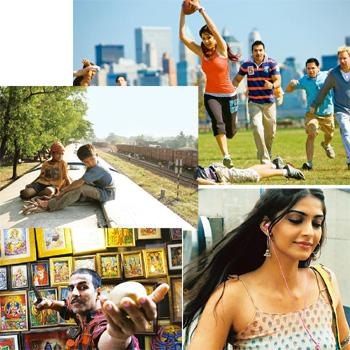 Mixed bag: (clockwise from top) New York, Dilli 6, Chandni Chowk to China and Slumdog Millionaire
