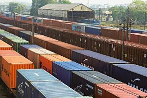 Container trains: A file photo of the Tughlakabad railway station in New Delhi. Container train operators are offering innovative solutions. Rajkumar / Mint