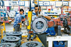 Awry targets: New Holland's tractor plant in Greater Noida. Domestic auto component firms have grossed $14.4 bn in local sales in the year to 31 March. Exports have been lagging way behind the target