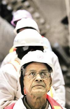 Strategy or scruples? Sreedharan offered to resign after an accident at a Metro site. Manish Swarup / AP