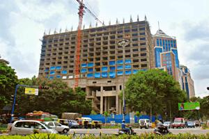 Risk profile: A file photo of a Marriott hotel under construction in Bangalore. The proposed guidelines aim at bringing clarity in the classification of banks' commercial real estate exposure. Hemant