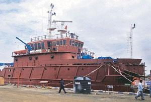 Valuation boost: A shipbuilding unit at Bhavnagar, Gujarat. Cochin Shipyard has the backing of the shipping ministry to launch a public issue for funding expansion costing Rs800-1,000 crore. Amit Dave