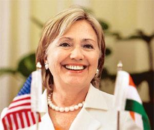Climate concerns: US secretary of state Hillary Clinton. Atul Yadav / PTI