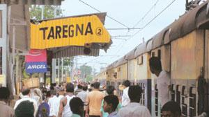 Sun spot: There has been an unusual increase in the number of people arriving at Taregna station since Monday. Bihar chief minister Nitish Kumar, too, is expected to watch the eclipse from this villag