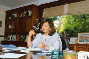 No more hedging: Biocon chairman and managing director Kiran Mazumdar-Shaw attributed the near-quadrupling of profit to the company's now cautious approach to foreign exchange volatility. Hemant Mishr
