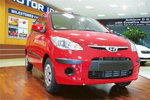 New variant: The Hyundai i10 that will soon have a diesel model. Babu Ponnapan / Mint