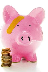 Bank with piggy: Help your child understand the importance of saving money.
