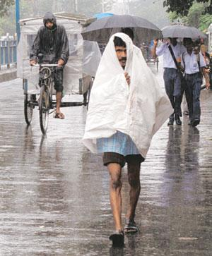 Shortfall: Rainfall in July, the key monsoon month, was close to its 50-yr average of 27cm, IMD says. Rupak De Chowdhuri/Reuters