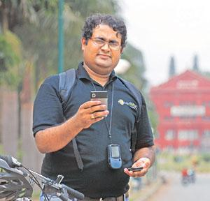 Mapping network: OpenStreetMap member B.V. Pradeep says he maps for fun and because he wants to contribute towards society. Hemant Mishra / Mint