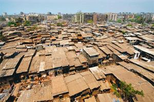 Resettlement wait: An aerial view of Dharavi, Mumbai. In March, five teams of developers walked out of the project, whose cost was pegged at Rs9,300 crore in 2007, citing delays, rising costs and the