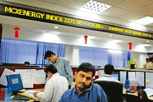 Greater efficiency: Traders at the Multi Commodity Exchange of India, which was started in 2003 along with the National Commodities and Derivatives Exchange. Icex will be the fourth national commodity