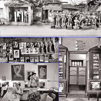 Life in a metro: (clockwise from top) Kumartuli; The Dispensary; The Actress; Tagore Birthday. Photographs by Saibal Das