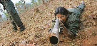 New initiative: A Naxal training camp. Police officers say that a new surrender policy could work in Naxalite-affected states only if the security forces are able to first dominate the areas now held