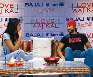 Brand ambassadors: Actors Saif Ali Khan and Deepika Padukone talk about the making of Love Aaj Kal during a special 30-minute Bajaj Allianz sponsored programme, which ran on NDTV Imagine.