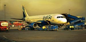 Flying high: IndiGo has raised its market share to 14% in July from 13.6% in June, according to the regulator. Harikrishna Katragadda / Mint
