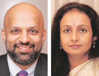 Pay cut: Luis Miranda (left), CEO, IDFC Private Equity; and Renuka Ramnath, former managing director and CEO, ICICI Venture. Kedar Bhat / Mint
